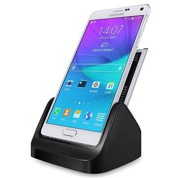 Samsung Galaxy Note 4 Bureauhouder 2 in 1 Zwart