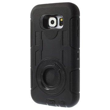 Samsung Galaxy S6 4-in-1 Heavy Duty Cover Zwart