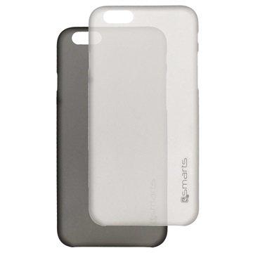 iPhone 6 Plus / 6S Plus 4smarts Bellevue Clip Ultradunne Cover Set Zwart & Wit