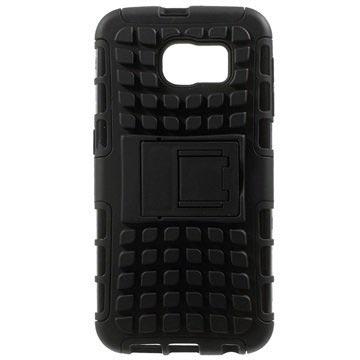 Samsung Galaxy S6 Anti-Slip Hybrid Cover Zwart