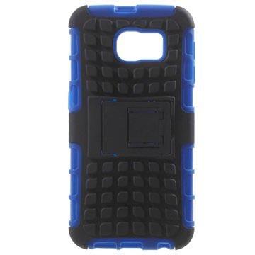 Samsung Galaxy S6 Anti-Slip Hybrid Cover Zwart / Blauw