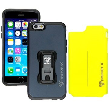 iPhone 6 / 6S Armor-X CX-i6-BLYLRugged Switch-Cover Case Navy Blauw / Geel