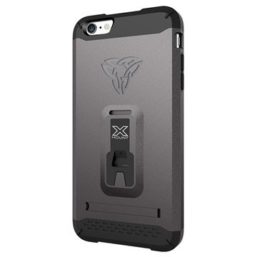 iPhone 6 Plus / 6S Plus Armor-X CX-Mi6P Rugged X-Mount Cover Staalgrijs