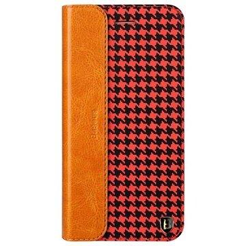 iPhone 6 Plus / 6S Plus Baseus Collocation Series Flip Leren Case Houndstooth