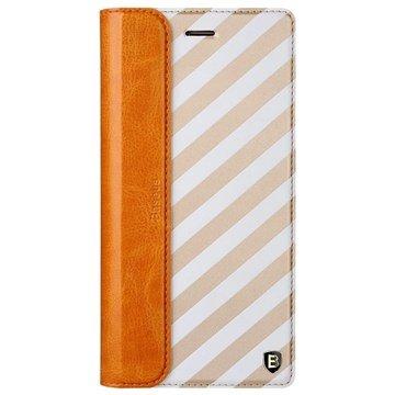iPhone 6 Plus / 6S Plus Baseus Collocation Series Flip Leren Case Twill