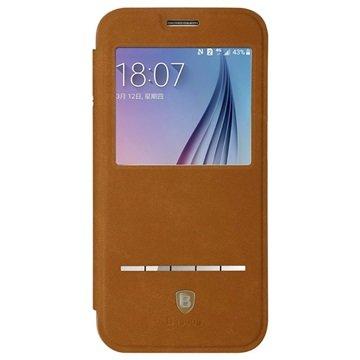 Samsung Galaxy S6 Baseus Terse Series Flip Case Bruin