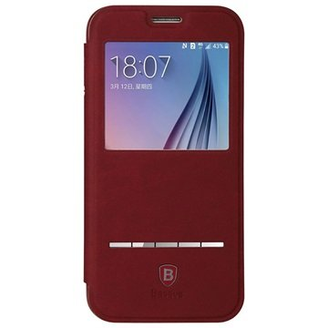 Samsung Galaxy S6 Baseus Terse Series Flip Case Rood