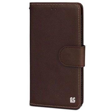 Samsung Galaxy Note 4 Beyond Cell Infolio B Wallet Leren Hoesje Bruin