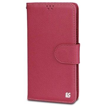 Samsung Galaxy Note 4 Beyond Cell Infolio B Wallet Leren Hoesje Hot Pink