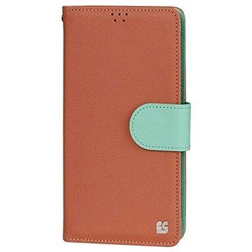 Samsung Galaxy Note 4 Beyond Cell Infolio B Wallet Leren Hoesje Oranje / Mint