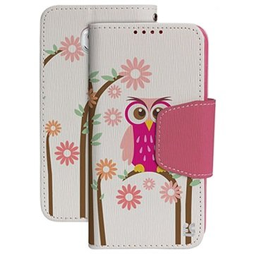 Samsung Galaxy S6 Beyond Cell Infolio Design Wallet Hoesje Daisy Owl