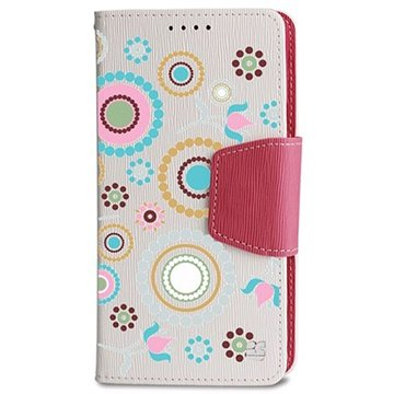 Samsung Galaxy Note 4 Beyond Cell Infolio Design Wallet Leren Hoesje Cirkel Collage