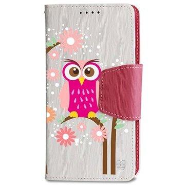 Samsung Galaxy Note 4 Beyond Cell Infolio Design Wallet Leren Hoesje Daisy Owl