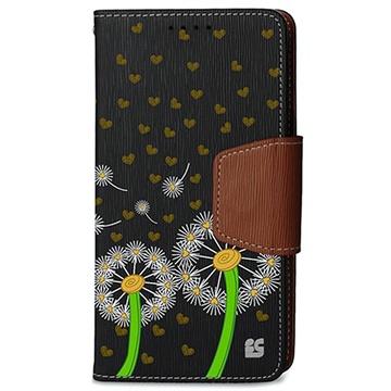 Samsung Galaxy Note 4 Beyond Cell Infolio Design Wallet Leren Hoesje Dandelion Love