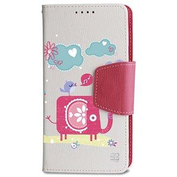 Samsung Galaxy Note 4 Beyond Cell Infolio Design Wallet Leren Hoesje Olifant / Vogel