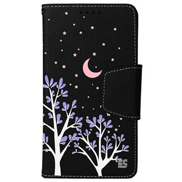 Samsung Galaxy Note 4 Beyond Cell Infolio Design Wallet Leren Hoesje Purple Night