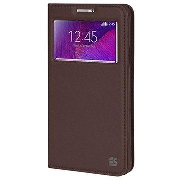 Samsung Galaxy Note 4 Beyond Cell Infolio V Wallet Leren Hoesje Bruin