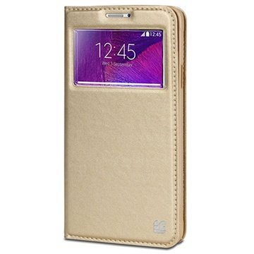 Samsung Galaxy Note 4 Beyond Cell Infolio V Wallet Leren Hoesje Champagne
