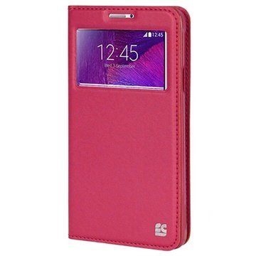 Samsung Galaxy Note 4 Beyond Cell Infolio V Wallet Leren Hoesje Hot Pink