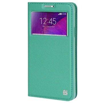 Samsung Galaxy Note 4 Beyond Cell Infolio V Wallet Leren Hoesje Mint