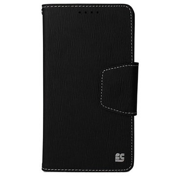 Samsung Galaxy Note 4 Beyond Cell Infolio Wallet Leren Hoesje Zwart