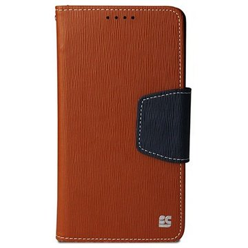 Samsung Galaxy Note 4 Beyond Cell Infolio Wallet Leren Hoesje Bruin / Donkerblauw