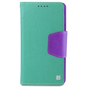 Samsung Galaxy Note 4 Beyond Cell Infolio Wallet Leren Hoesje Mint / Paars