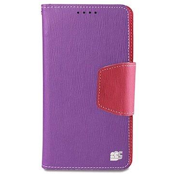Samsung Galaxy Note 4 Beyond Cell Infolio Wallet Leren Hoesje Paars / Roze