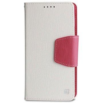 Samsung Galaxy Note 4 Beyond Cell Infolio Wallet Leren Hoesje Wit / Roze