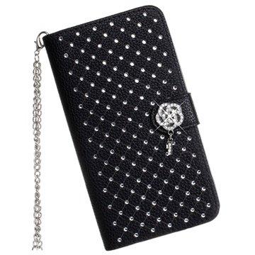 Samsung Galaxy Note 4 Luxury Wallet Leren Hoesje Zwart
