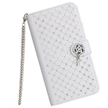 Samsung Galaxy Note 4 Luxury Wallet Leren Hoesje Wit