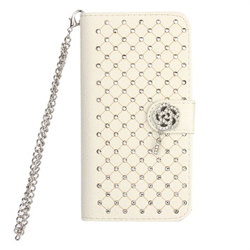 Samsung Galaxy S6 Luxury Wallet Hoesje Wit