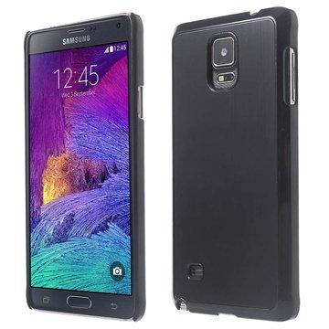 Samsung Galaxy Note 4 Brushed Aluminum Hard Cover Zwart