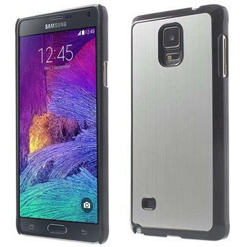 Samsung Galaxy Note 4 Brushed Aluminum Hard Cover Zilver
