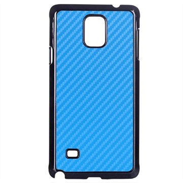 Samsung Galaxy Note 4 Hard Cover Carbon Blauw
