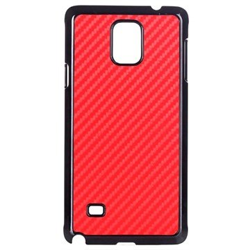 Samsung Galaxy Note 4 Hard Cover Carbon Rood