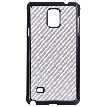 Samsung Galaxy Note 4 Hard Cover Carbon Zilver