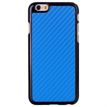 iPhone 6 / 6S Hard Cover Carbon Blauw