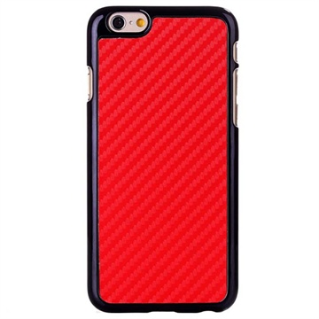 iPhone 6 / 6S Hard Cover Carbon Rood