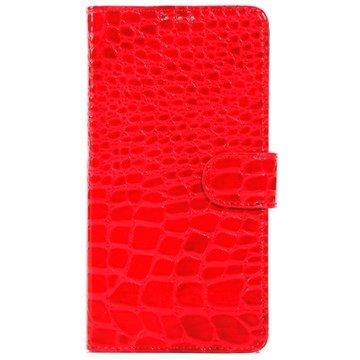 Samsung Galaxy Note 4 Crocodile Wallet Leren Hoesje Rood
