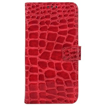 Samsung Galaxy S6 Crocodile Wallet Hoesje Rood