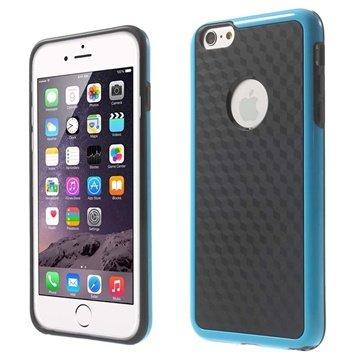 iPhone 6 Plus / 6S Plus Cube Design Hybrid Cover Zwart / Blauw