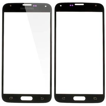 Displayglas voor samsung galaxy s 5   zwart  vervanging voor glas zonder touchscreen.