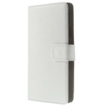 Samsung Galaxy Note 4 Wallet Leren Hoesje Wit