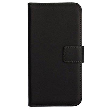 Samsung Galaxy S6 Wallet Leren Hoesje Zwart
