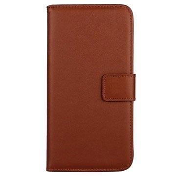 Samsung Galaxy S6 Wallet Leren Hoesje Bruin