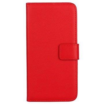 Samsung Galaxy S6 Wallet Leren Hoesje Rood