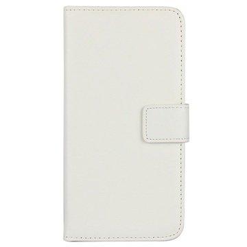 Samsung Galaxy S6 Wallet Leren Hoesje Wit