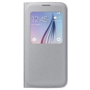 Samsung Galaxy S6 S-View Stoffen Flip Case EF-CG920BS Zilver
