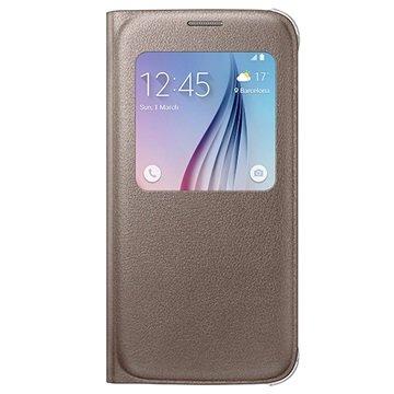 Samsung Galaxy S6 S-View Flip Case EF-CG920PF Goud
